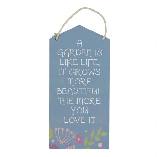 Country Living Hanging Wooden Plaque For The Garden - A Garden Is Like Life